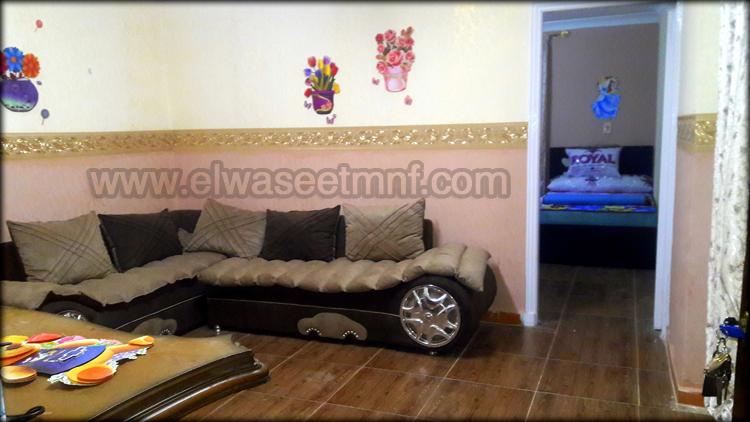 شقة إيجار مفروش مساحة  110 متر بالقرب من شارع صبرى ابوعلم و أيضاً من مجمع الكليات من الوسيط العقارية بشبين الكوم
