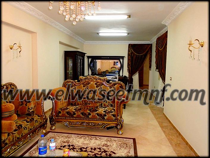 شقة إيجار مفروش بمساحة 200 متر بالقرب من الكوبرى العلوى و الهنداوى و المواساه من شركة الوسيط العقارية بشبين الكوم