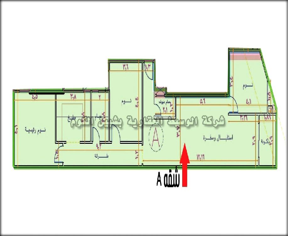 شقة تمليك للبيع بمساحة 155 متر ببرج جديد بالدور التالت علوى بالقرب من شارع باريس و بتقسيط على سنه من شركة الوسيط العقارية بشبين الكوم