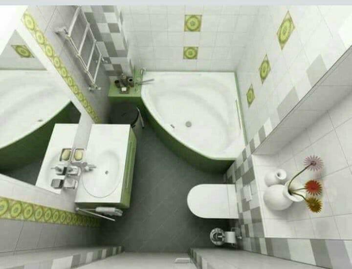 افكار للاستغلال مساحات الحمامات الضيقه .