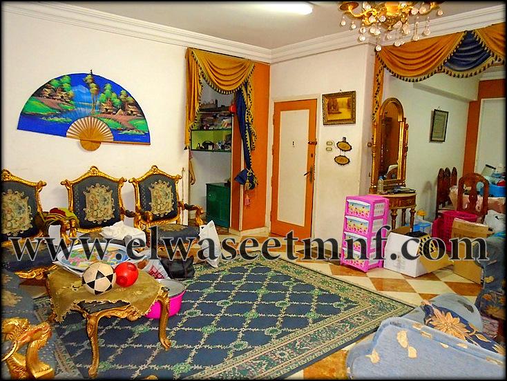 شقة إيجار مفروش مكيفة بمساحة 135 متر على شارع جمال عبدالناصر الرئيسى بالقرب من كليه الهندسة من الوسيط العقارية بشبين الكوم