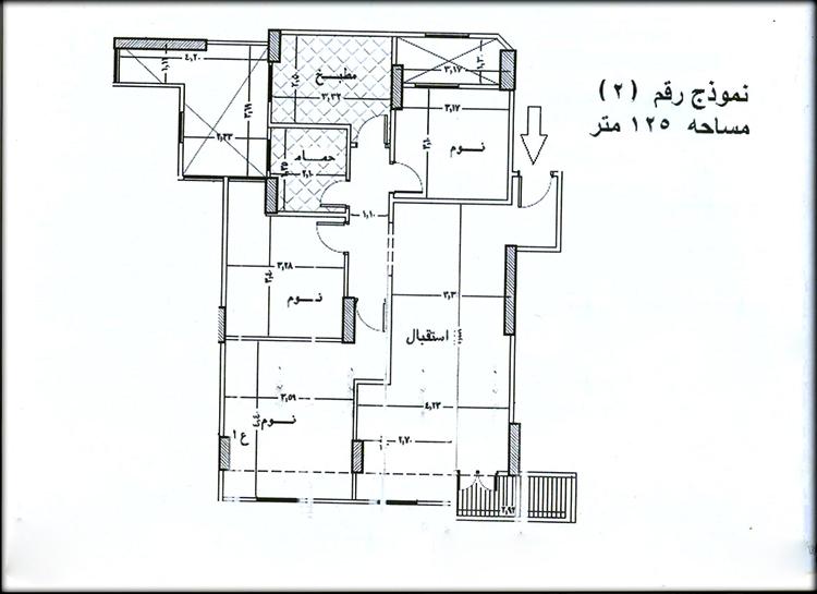 شقة تمليك للبيع بمساحة 125 متر ببرج جديد بالدور الخامس بالقرب من شارع عاطف السادات و بتقسيط على سنتين من شركة الوسيط العقارية بشبين الكوم