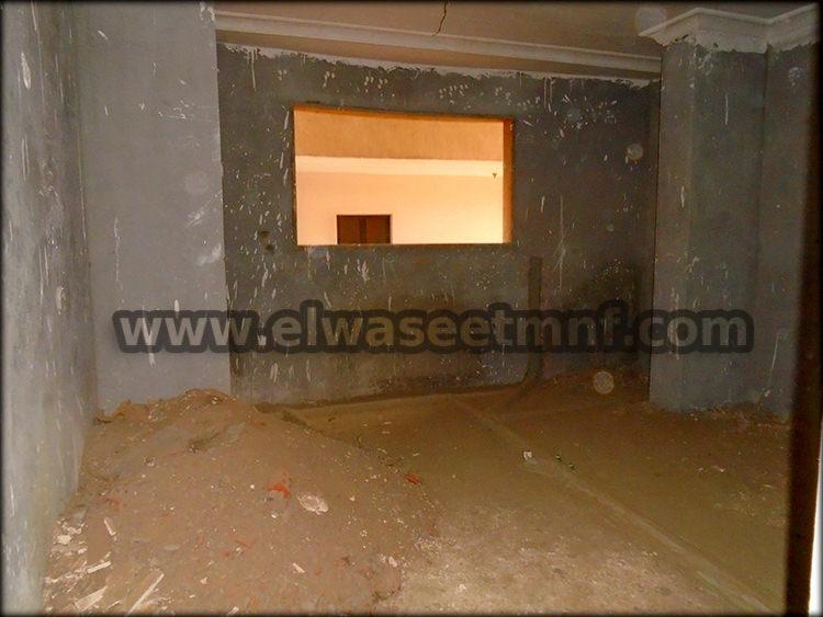 شقة تمليك للبيع بمساحة 155 متر ببرج جديد واجهة بحرية غربية من الوسيط العقارية بشبين الكوم