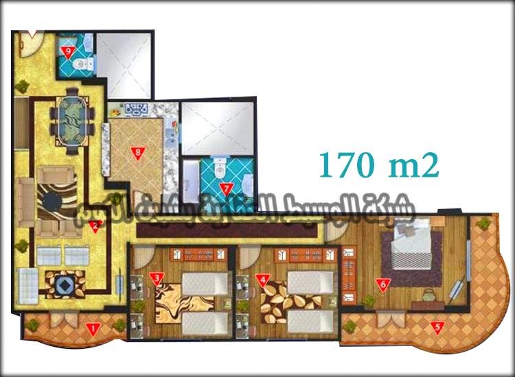 شققق تمليك للبيع بمساحات 140 و 155 و 170 متر بواجهات بحرية ببرج جديد تحت الإنشاء بالقرب من كليه الهندسة على شارع جمال عبدالناصر الرئيسى